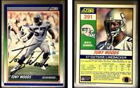Tony Woods Signed 1990 Score #391 Card Seattle Seahawks Auto Autograph
