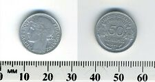 France 1941 - 50 Centimes Aluminum Coin - WWII mintage