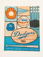 Authentic Rare Vintage 1964 Los Angeles Dodgers  Baseball Program Score Card