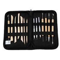 Wooden Clay Sculpting Set Wax Carving Pottery Tools Polymer Modeling
