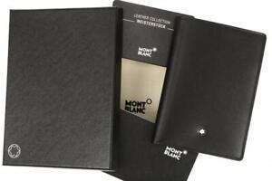 NEW MONTBLANC BLACK LEATHER CARDHOLDER CASE ID WINDOW W/BOX