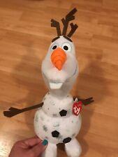 """OLAF TY Sparkle Beanie Buddy from Disney """"Frozen 2""""- Ty Snowman"""