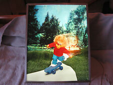 Vintage Bernstain Bear Boy On Skateboard Advertising Light Box