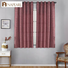 NAPEARL 1 Panel Short Geometric Kitchen Curtains Home Textiles Fabrics Drapes