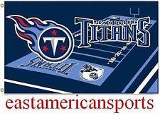 Tennessee Titans NFL 3' x 5' Field Logo Yard Flag Pole Banner Tailgate Bar Room