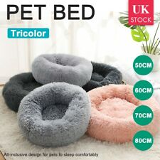 More details for comfy calming dog/cat warm bed pet round super soft plush marshmallow puppy beds