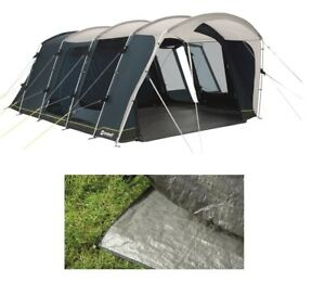 Outwell Montana 6PE 6 Berth Family Tunnel Tent & Footprint Groundsheet Package