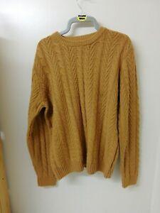 Mens Jumper Pullover Size MEDIUM - Chest 39-41 In - Tu Sainsburys - Mustard