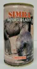 """Simba """"Babboon"""" 340 ml. Crimped Steel Beer Can (Swaziland)"""