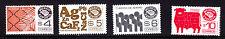 Mexico Exporta#1119,1120a,1121c,1491.high florescent frt. Paper 8,unwmk.MNH.