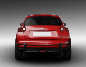 ATU Fits 11-17 Nissan Juke Rear Bumper Guard Double Tube in Black 8NIJUA