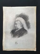 Rare Queen Victoria Signed Royal Document Presentation Photograph Etching Vellum
