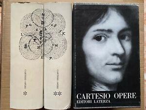 Cofanetto due volumi OPERE - CARTESIO Laterza PRIMA EDIZIONE 1967