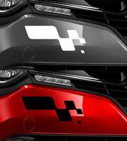 STICKER PARE CHOC MEGANE CLIO SPORT DAMIER PARE-CHOC 29X13cm AUTOCOLLANT RA068