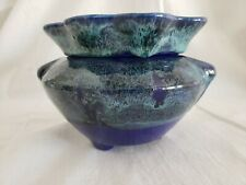 """Self Watering Ceramic African Violet Pot/Planter Tvp Pottery Fluted 4.5"""" x 7"""""""