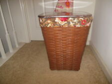 Longaberger Rich Brown Large Waste with Protector, Lid, Majolica Liner