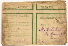 1918 Field Post Office D54 pmk WW1 Active Service env Mediterranean wreck