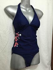 BNWT Ladies Sz 12 Wavezone Brand Navy Blue Aussie Print Tankini Swim Suit Set