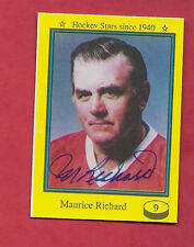 1992 SPORT FLASH MONTREAL CANADIENS MAURICE RICHARD AUTOGRAPH CARD