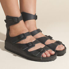 Birkenstock Athen Exquisite Leather Gladiator Sandals in Black Size: Narrow N 37
