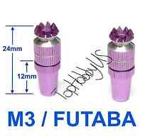 1Set M3 Purple Futaba / Spektrum DX6i DX7S DX8 DX9 TX Gimbal Sticks  (US SELLER)