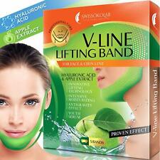 Double Chin Reducer V Shaped Slimming Face Mask Chin Up Patch Face Lift Tape ...