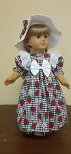 DOLL CLOTHES AND ACCESSORIES FITS AMERICAN GIRL DOLL'S. STRAWBERRY FIELDS.