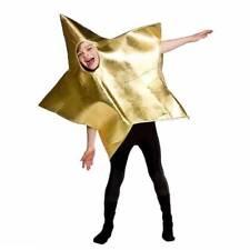 Christmas GOLD Star Nativity Fancy Dress Boys Girls Childrens Costume One Size