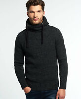 New Mens Superdry Stealth Hoodie Black Twist