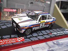 Ford Escort MKII Rallye rs2000 1981 1000 Lakes vatanen #2 Ixo Altaya 1:43