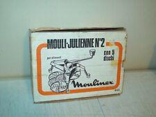 Mouli Juliennen 2 Disc shredder slicer in the box made in France COMPLETE