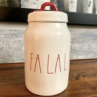 Rae Dunn FALALA Canister IVORY AND RED - New - Large Letter LL - Full Size - HTF