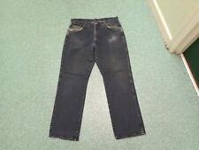 """Wrangler Regular Fit Jeans Waist 34"""" Leg 30"""" Faded Dark Blue Mens Jeans"""