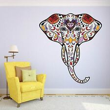 Elephant Head Animal Tribal Day of the Dead wall sticker ss5