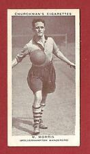 Wolverhampton Wanderers FC BILL MORRIS  WOLVES  England International 1938 card
