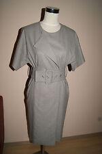 SET Etuikleid Gr. 36 S OUISET Oui grau Kleid Businesskleid Abendkleid NEU