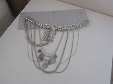 BNWT FREEDOM @ TOPSHOP SILVER COIN JEWELLED BELLY CHAIN ONE SIZE RRP 20.00