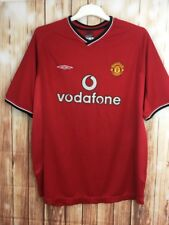 04f2dfffb UMBRO Retro Manchester United Home Training Football Shirt Jersey 2000-2002  XL