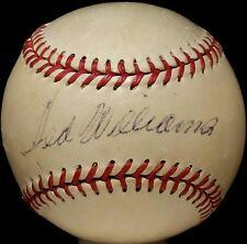 1950s TED WILLIAMS Single Signed Baseball BOSTON RED SOX TEAM vtg HOF JSA Auto