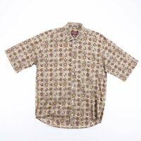 Vintage CAMPAGNA MILANO Brown Crazy Patterned Shirt Size Mens Large