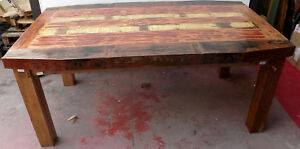 Dining Table Style Industrial Wooden Teak Recycled From Boats cm175x100