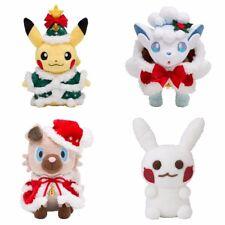 Pokemon Center Original Plush Doll Christmas 2017 Pikachu Vulpix Rockruff Snow