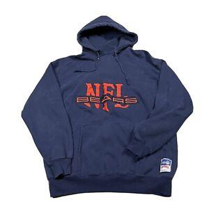 90s VTG CHICAGO BEARS NUTMEG MILLS XL Hoodie Sweatshirt Embroidered Heavyweight