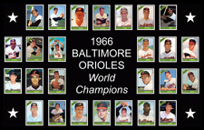 BALTIMORE ORIOLES 1966 World Series Vintage Baseball Card Custom Poster Decor