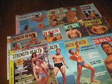 Lot Of 12 Strength & Health Bodybuilding Magazines/ 1961 COMPLETE YEAR