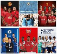 Official 2020 Calendar Football Team A3 Wall Poster Liverpool Man City Man Utd
