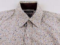 KL343 TOPMAN beautiful floral motif shirt size S, excellent condition!