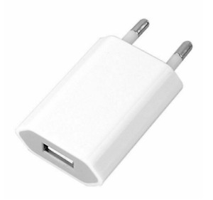 Euro USB plug European Europe EU 2 Pin 2.1A Fast USB Wall Plug Charger White