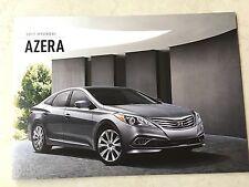 2017 Hyundai Azera 12-page Original Sales Brochure