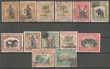 North Borneo British Protectorate nice lot of 13 used & unused stamps RARE !!!